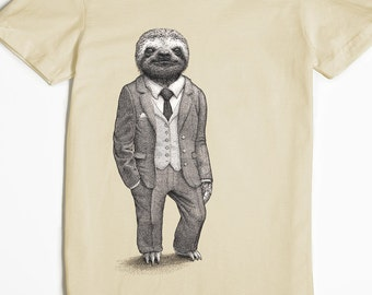 Sloth Shirt - Graphic Tee for Women - Women's Tshirt - Stylish Sloth T-shirt - Funny T-shirt - Animal Shirt