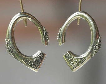 Brass ear wights # Body jewelry, Bali styles carving. wearable size available 4 mm