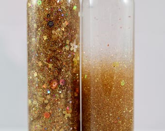 8oz Calming or Time Out Bottle (Glitter) Gold Rush