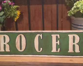 Large Rustic Farmhouse Grocery Sign