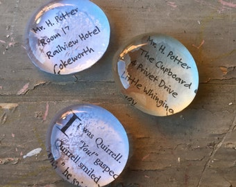 Harry Potte Inspired Text Stones