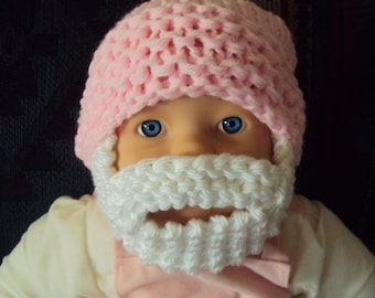 SALE! Baby Beard Hat Baby Beanie Baby Hat Knit Baby Hat Face Mask New Born Hat Baby Shower Gift 0-18 months