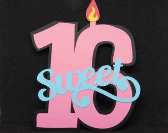 Sweet 16 Birthday card