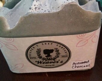 Activated Charcoal soap, cold processed soap