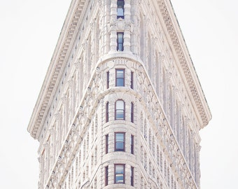 New York City Photography, Looking up, Flat Iron Building, Empire State, Art, NYC Decor, architecture Photo, Living Room Art