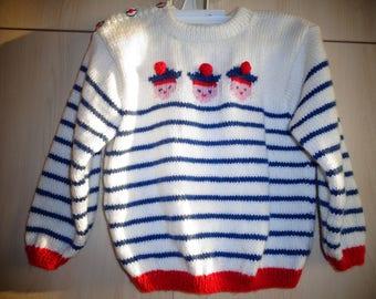 sweater sailor boy 2/3 years