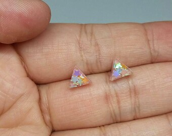 Holographic Star Triangle Earrings