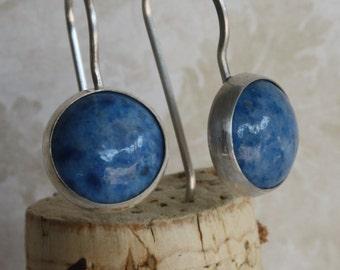 Lapis Earrings, Sterling Silver Lapis Earrings, Gemstone Earrings, lapis Jewelry, Lapis Lazuli Earrings, Blue Earrings, Everyday Earrings