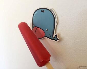 Bleh! Goch the Whale Sticker