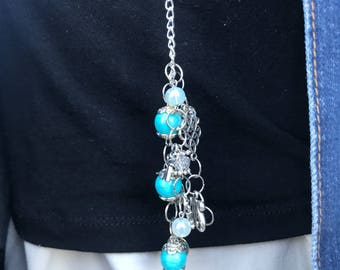 "Necklace ""long classic turquoise"""
