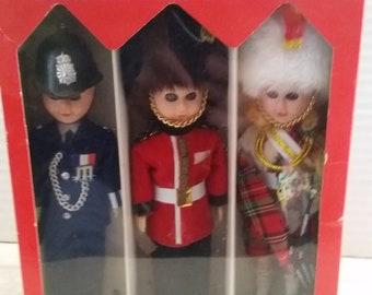 Vintage The Royal Parade Doll Collection, England Souvenir, Box of 3 collectible dolls