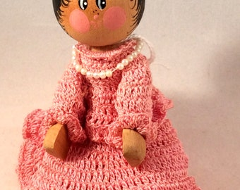 old Clothespin Doll free US shipping