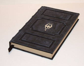 Skyrim Book Black and Gray Tome Grimoire morrowind dragonborn wicca