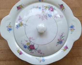 Vintage Haviland Avalon Pattern Covered Serving Bowl