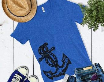 Anchor T Shirt - Nautical Anchor Shirt - Cute Womens Shirt