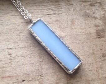 Blue glass jewelry, light blue jewelry, blue birthday gift, sky blue jewelry, light blue necklace, periwinkle jewelry, pastel blue pendant