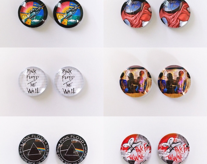 The 'Pink Floyd' Glass Earring Studs
