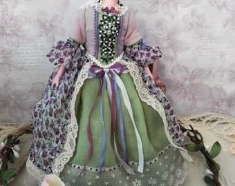 Miniature doll - petite doll, tiny art doll, OOAK dolls, collectible dolls, dollhouse doll, special gift for mom, princess doll, home decor