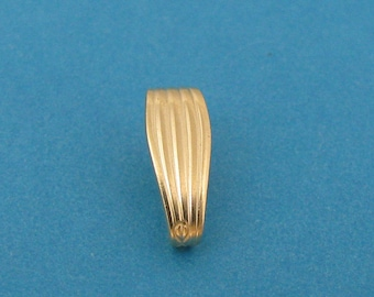 14k Yellow Gold Snap On Bail with 3mm Opening