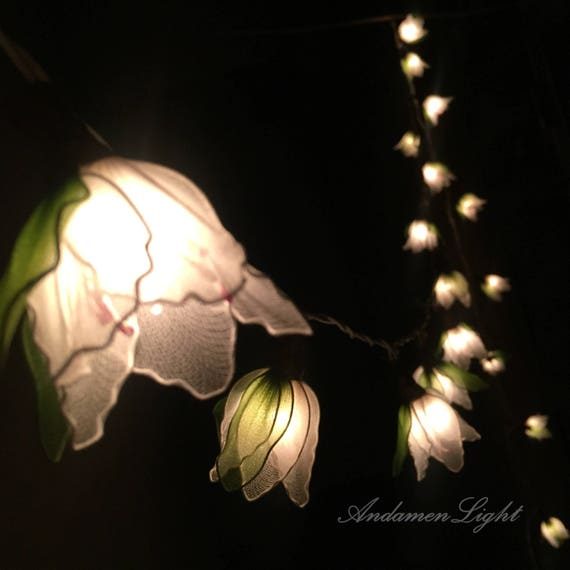 Can You Cut Outdoor String Lights: 20 White Cut Flower Fairy String Lights Party Patio Wedding