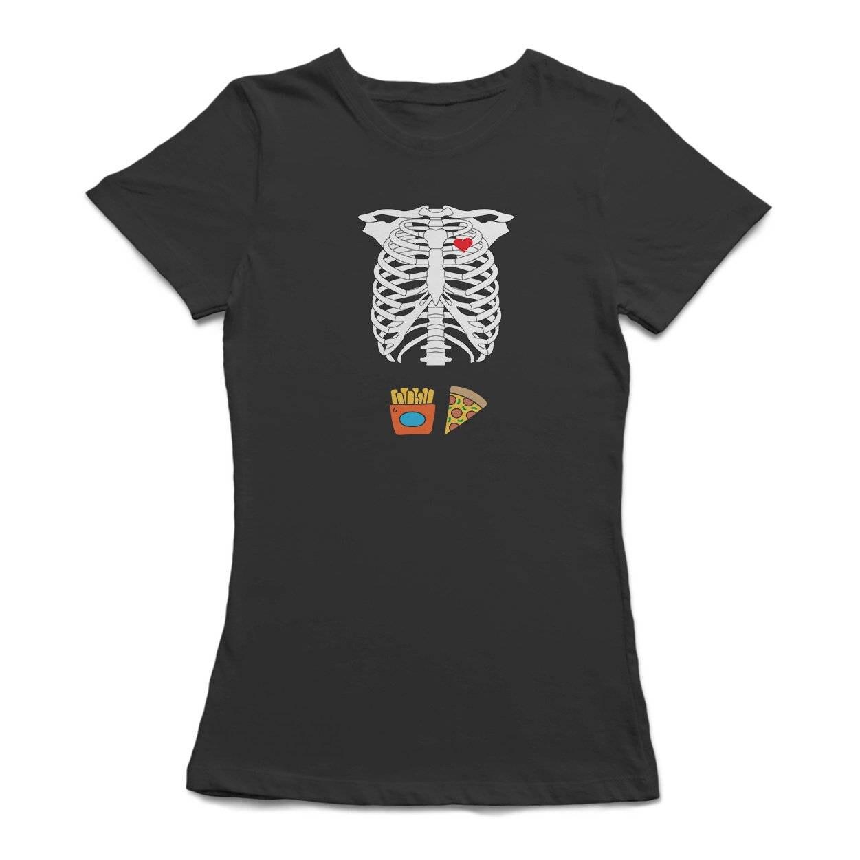 Lustige Skelett Körper Grafik Frauen T-shirt