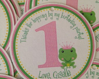 Princess Frog Favor Tags Or Stickers