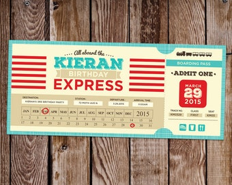 Train Ticket Birthday Invite