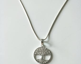 Bali Sterling Tree of Life Necklace| Silver Bali Pendant