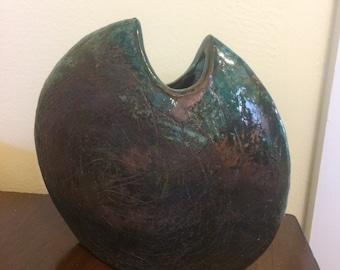 Modernist Ceramic Sculpture/Vase, Signed Original by Rex Walkenhorst