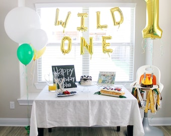 Wild One Letter Balloons - Wild One Party Decor - Wild One Birthday - First Birthday Decor - First Birthday Balloons - 1 Balloon - Wild