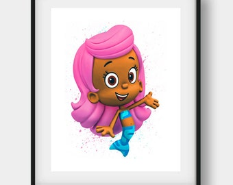 Bubble Guppies, Bubble Guppies Print, Bubble Guppies Gift, Molly Printable, Molly Disney, Molly Art, Molly Print, Nursery Wall Art, Kids Art