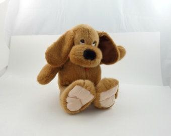 Vintage 90s Dakin Dog Plush, Dakin Plush, Dog Lover Gift, Floppy Ear Dog, Stuffed Puppy, Peluche, Collectible Dog, Plush Dog, Brown Dog