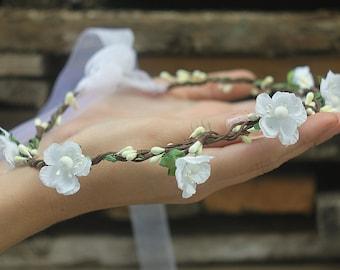 Bridal floral crown Flower headband hair wreath  Wedding flower crown Bridesmaid crown Hair wreath floral crown flower crown hair wreath