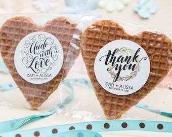 Cheap wedding favors etsy stroopwafel wedding favors edible favors unique wedding favor cheap wedding favors personalized gift heart party favors junglespirit Images