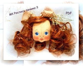 PDF Sewing Tutorial Faсe BIG Doll doll sewing pattern, pdf doll, sewing tutorial