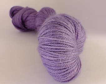Hand dyed yarn,  alpaca, silk and cashmere, naturally dyed, purple, WASCH/P/1