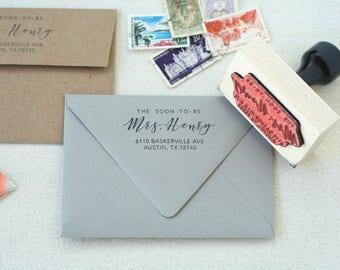 Wedding Invitation Return Address Stamp. Future Address Stamp. Return Address Stamp Wedding. Personalized Stamp. Custom Address Stamp.
