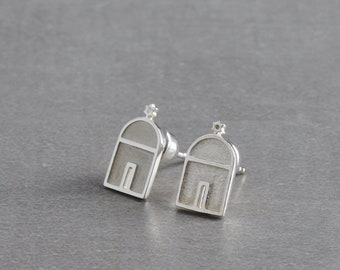 Silver Earring handmade, Istanbul Synagogue jewelry, handmade earring studs, Valentine's gift, gift for mother, gift for wife, birthday gift