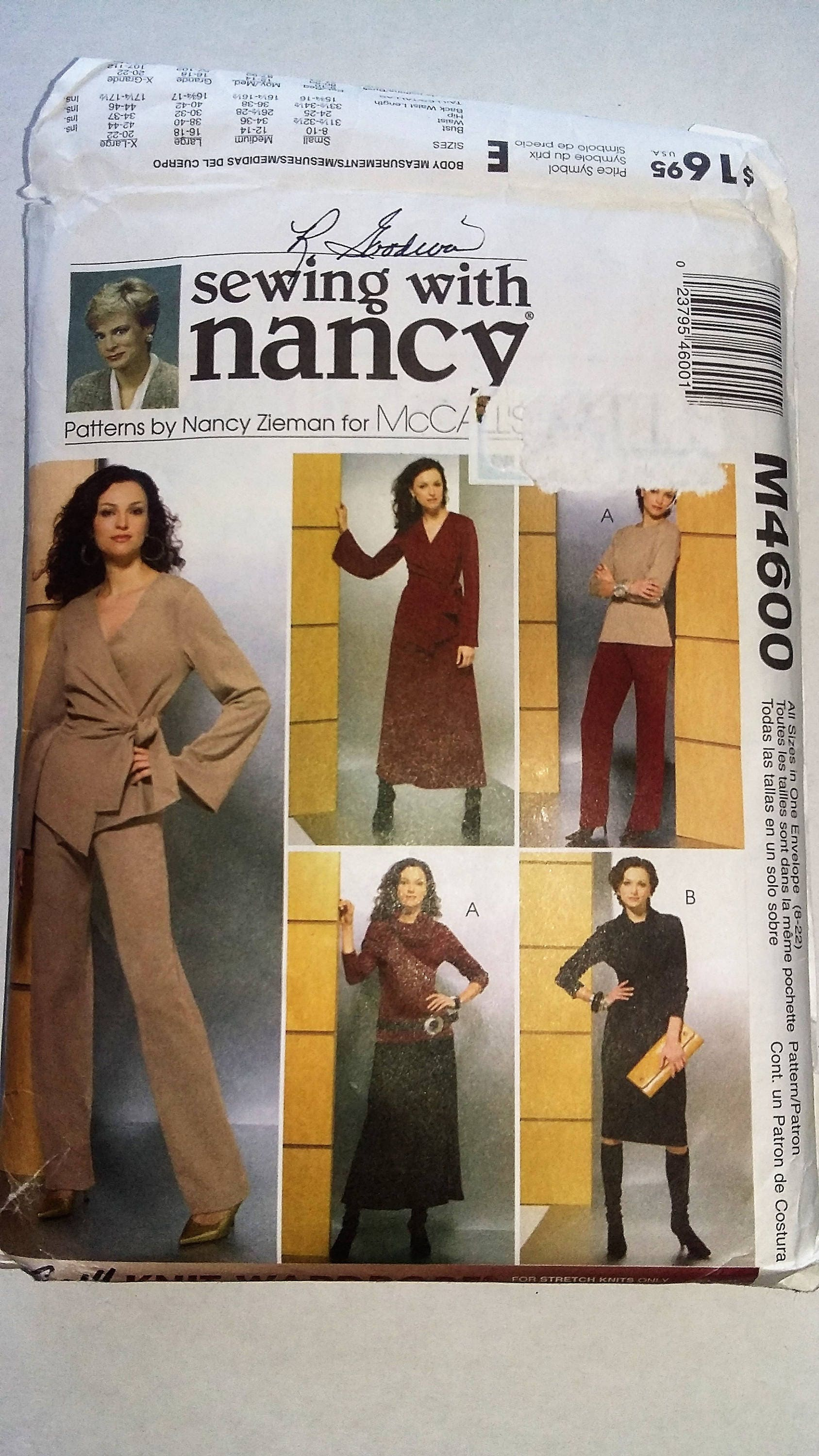 Mccalls m4600 pattern knit wardrobe sewing with nancy description mccalls m4600 pattern knit wardrobe sewing with nancy jeuxipadfo Image collections