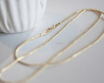 Full Gold Mesh chain 43cm snake - high quality product