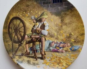 Rumpelstiltzchen Collectible Plate #1 Grimm's Fairy Tale Collection