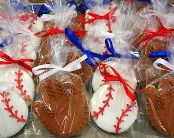 Baseball and Glove Sugar Cookies