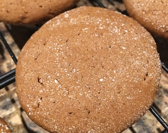 Homemade Soft & Chewy Molasses Cookies ~ Reduced sugar option or regular ~ Fast Shipping!!!