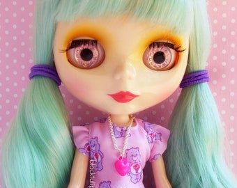 Fashion Doll Jewelry 11 inch Doll Necklace Pink Heart Fairy Kei