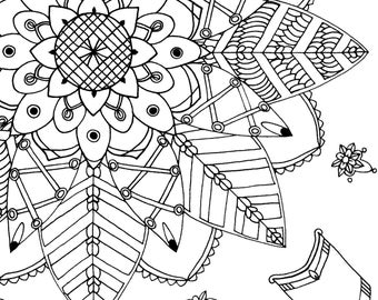 3 Digital Colouring Pages #3