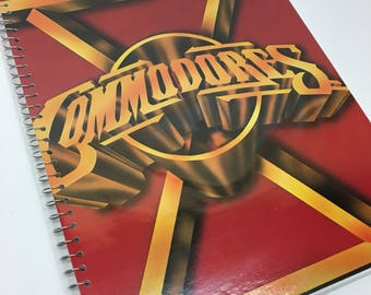 Commodores Recycled album cover notebook -