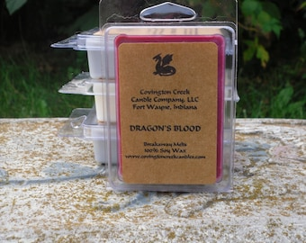 Halloween Candle Dragon's Blood Pure Soy 3 or 6 ounce Breakaway Melt