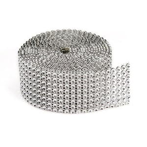 Bling on a Roll - Silver - 8 Row - 3mm x 2 yards