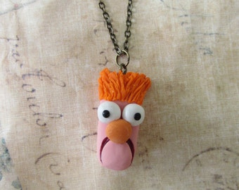 Beaker Muppets necklace