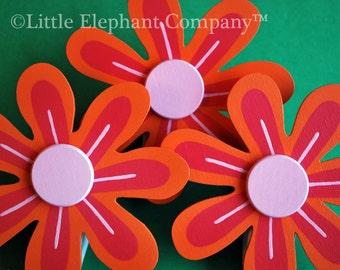 Tiger Lily Daisy Quilt Clips - set of 3